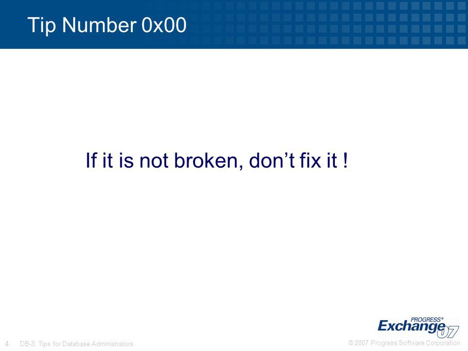 If it is not broken, don't fix it !