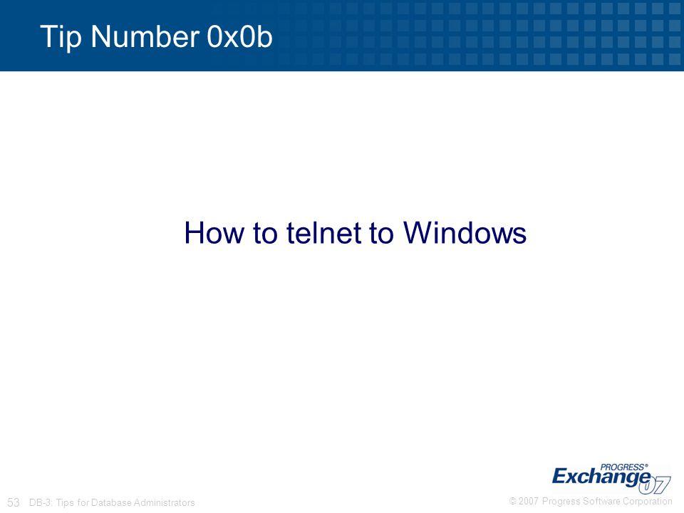 How to telnet to Windows