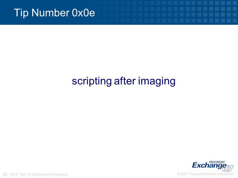 scripting after imaging