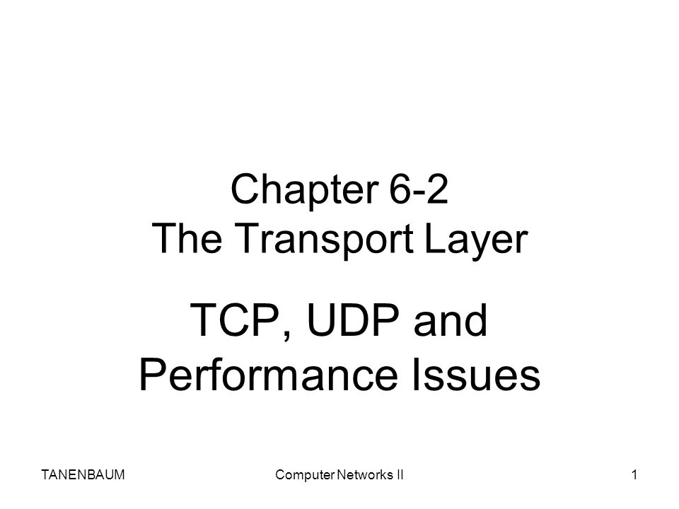 Chapter 6-2 The Transport Layer