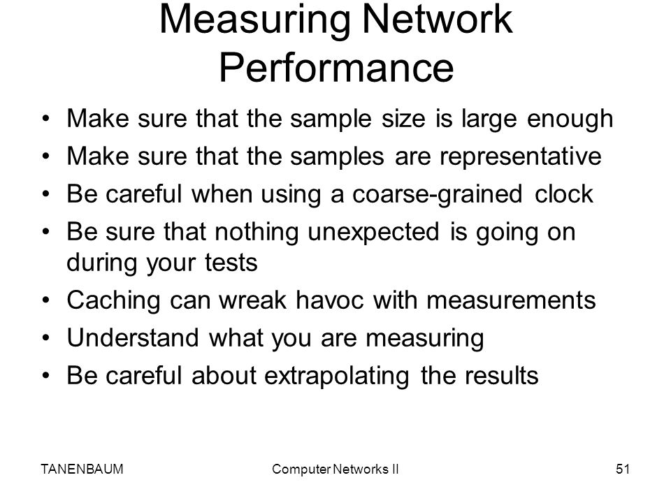 Measuring Network Performance