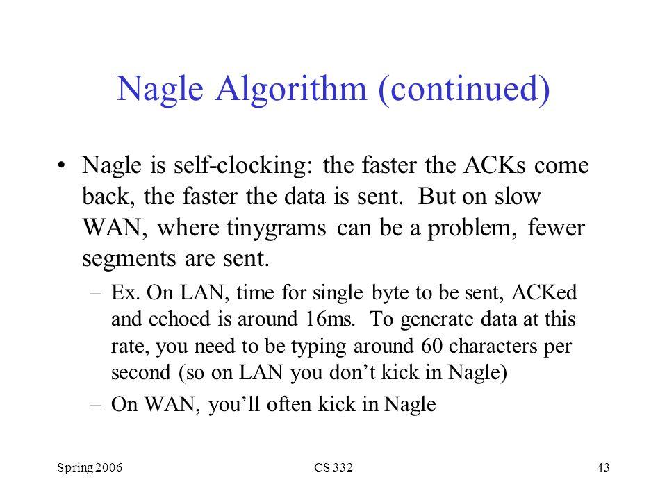 Nagle Algorithm (continued)