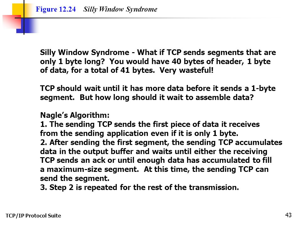 Figure 12.24 Silly Window Syndrome