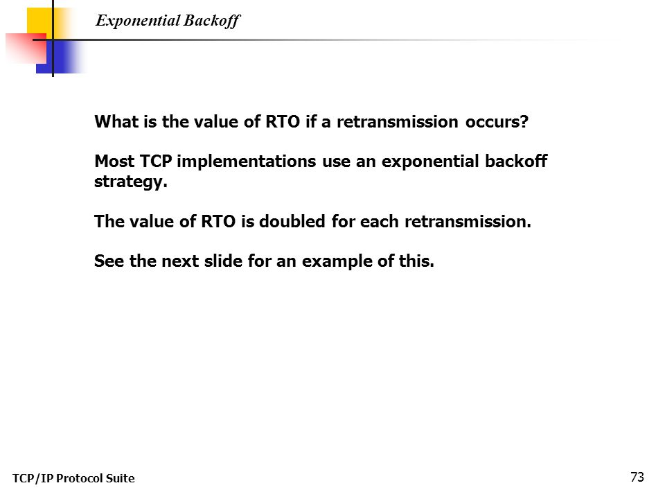 What is the value of RTO if a retransmission occurs