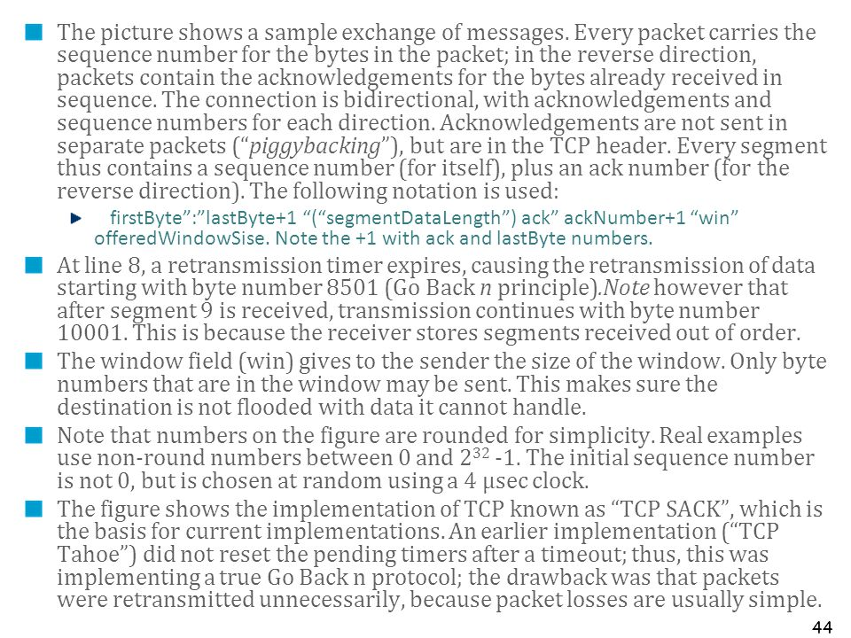 The picture shows a sample exchange of messages