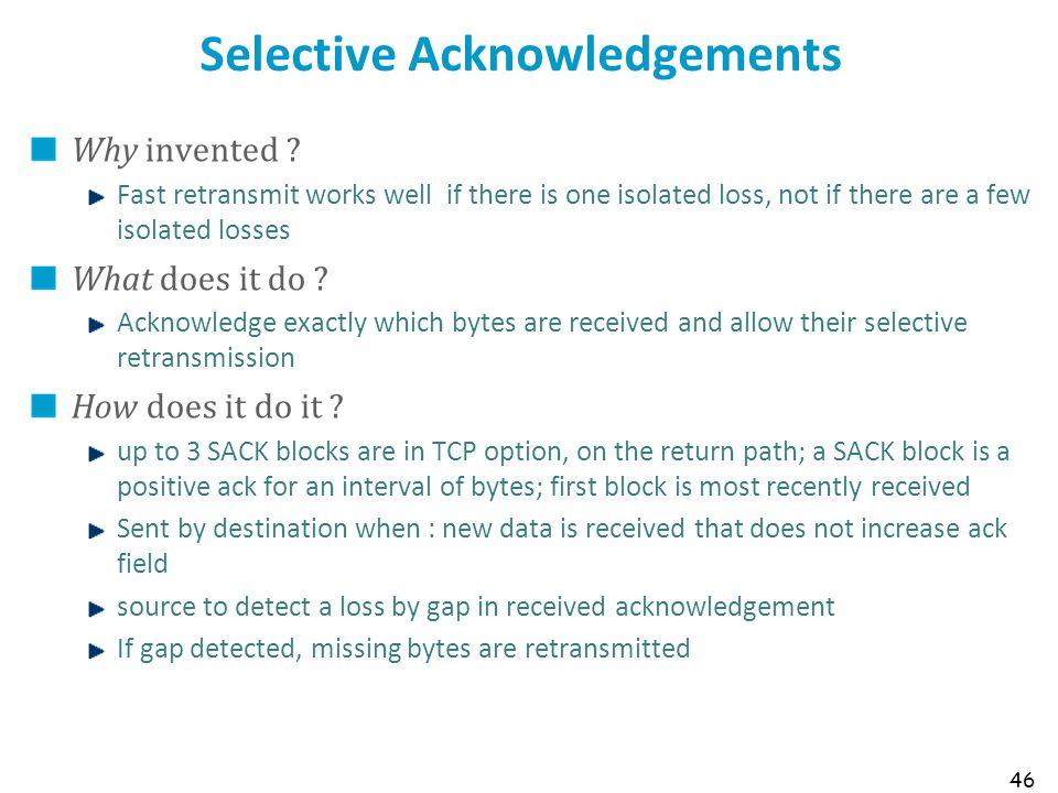 Selective Acknowledgements