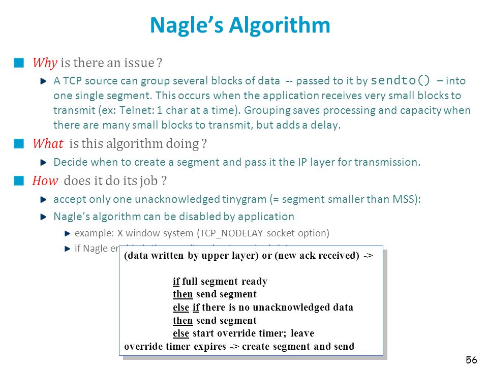 Nagle's Algorithm Why is there an issue