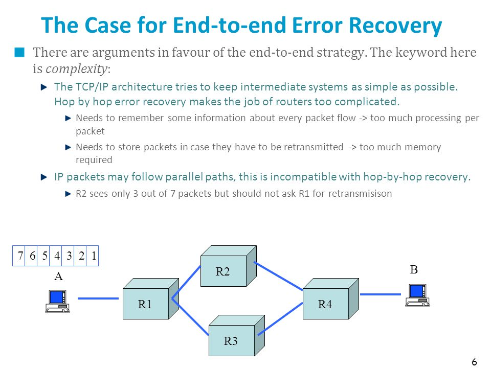 The Case for End-to-end Error Recovery