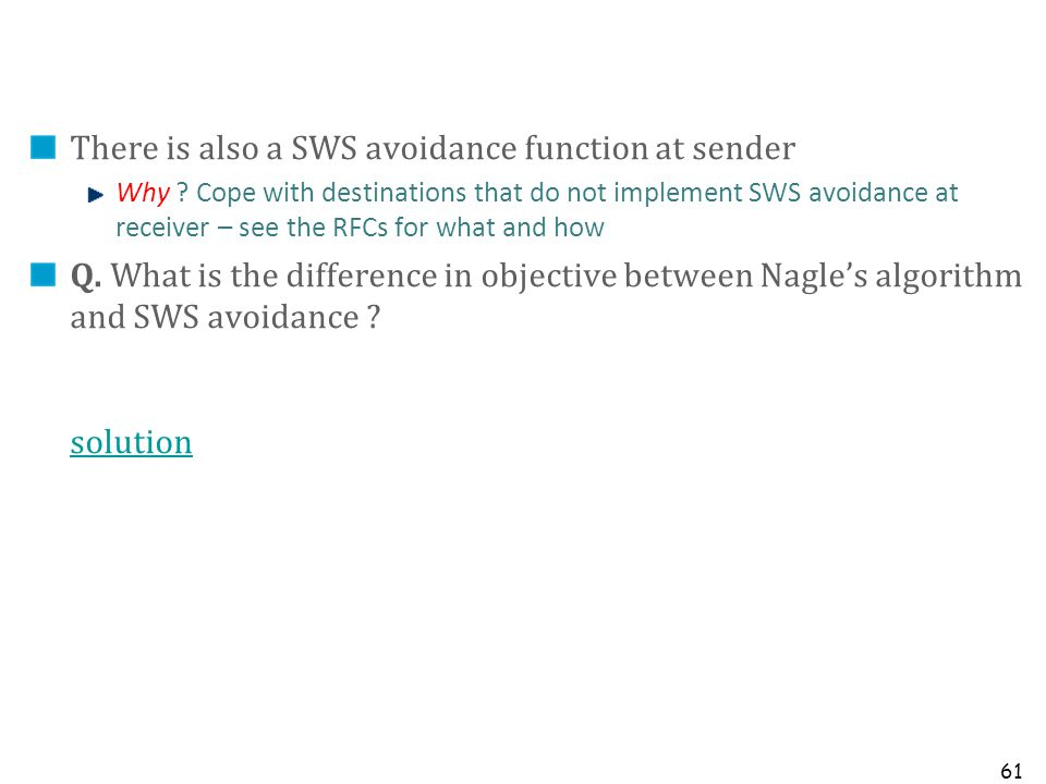 There is also a SWS avoidance function at sender