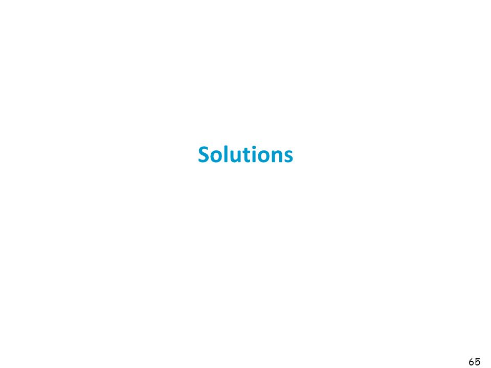 Solutions 65