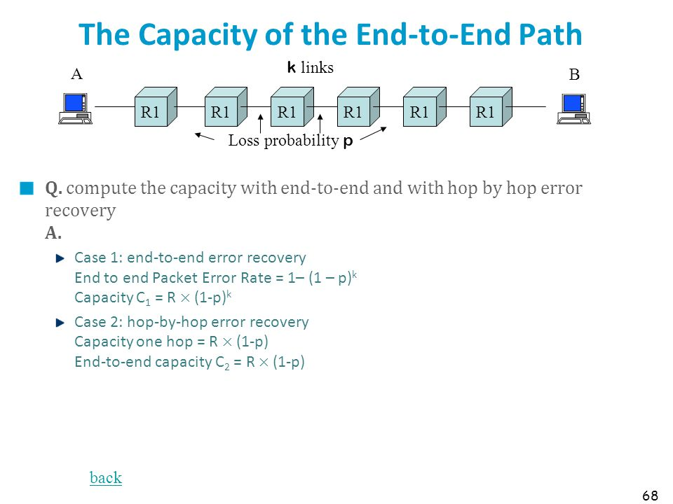 The Capacity of the End-to-End Path