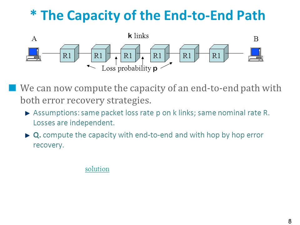* The Capacity of the End-to-End Path