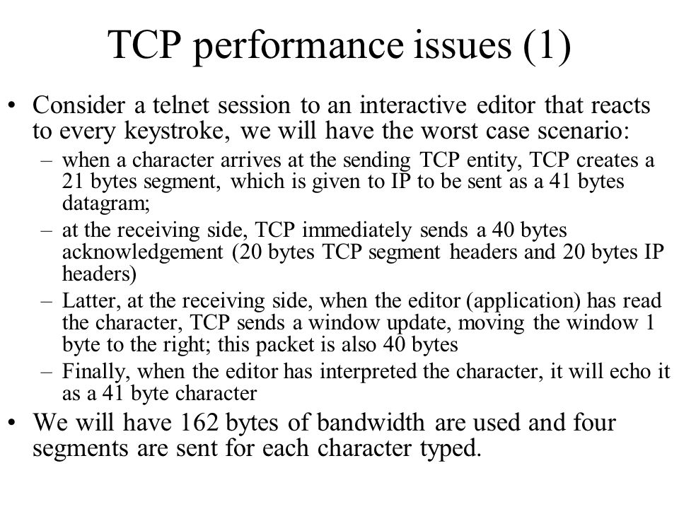 TCP performance issues (1)