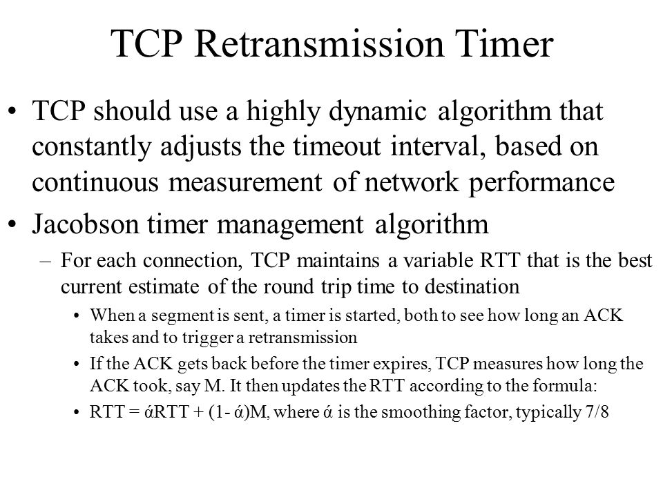 TCP Retransmission Timer