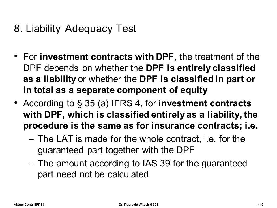 8. Liability Adequacy Test