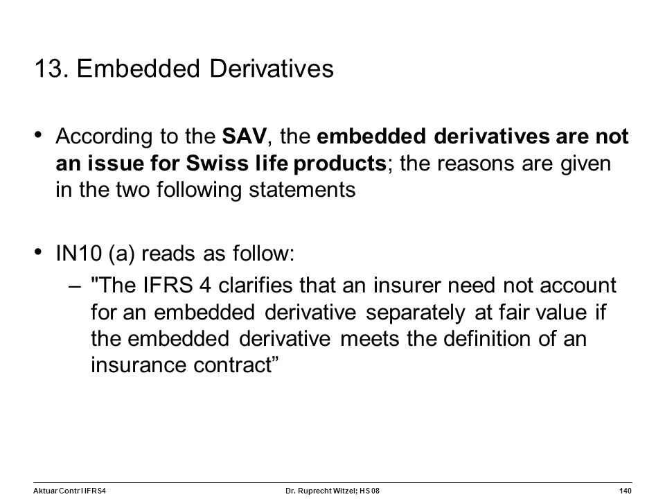 13. Embedded Derivatives