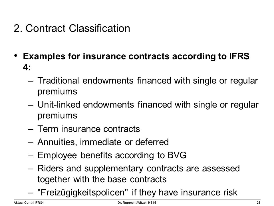 2. Contract Classification