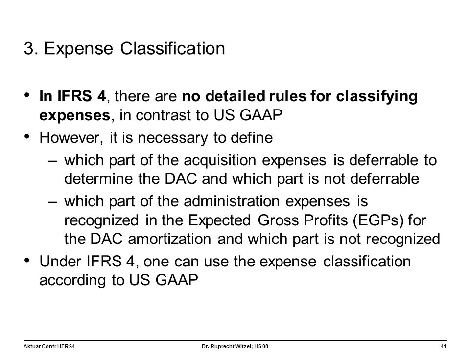 3. Expense Classification