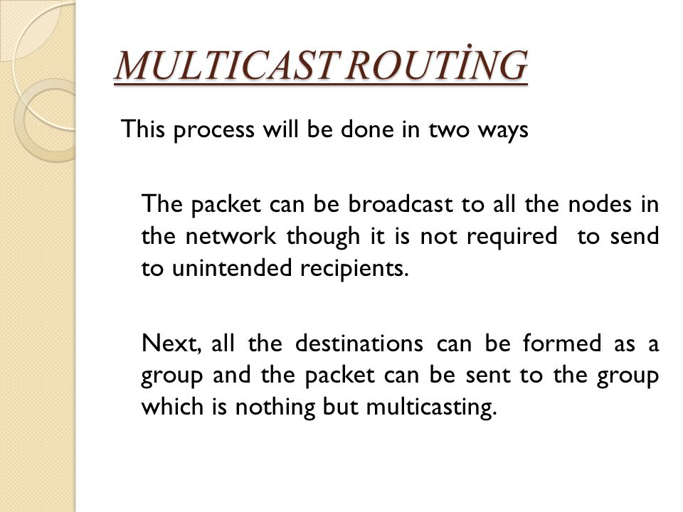 MULTICAST ROUTİNG