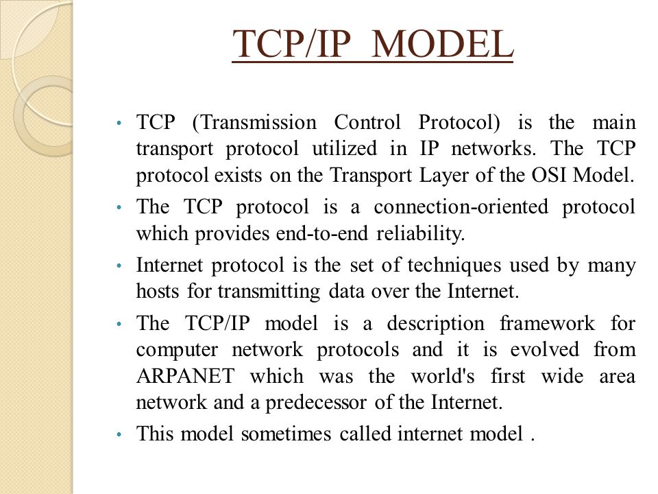 TCP/IP MODEL