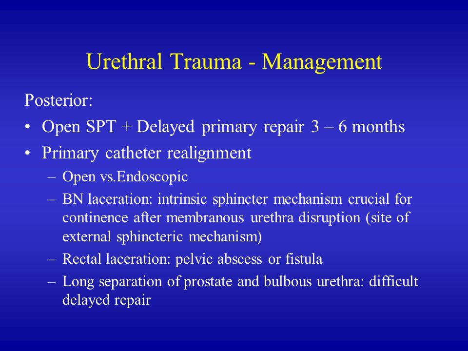 Urethral Trauma - Management