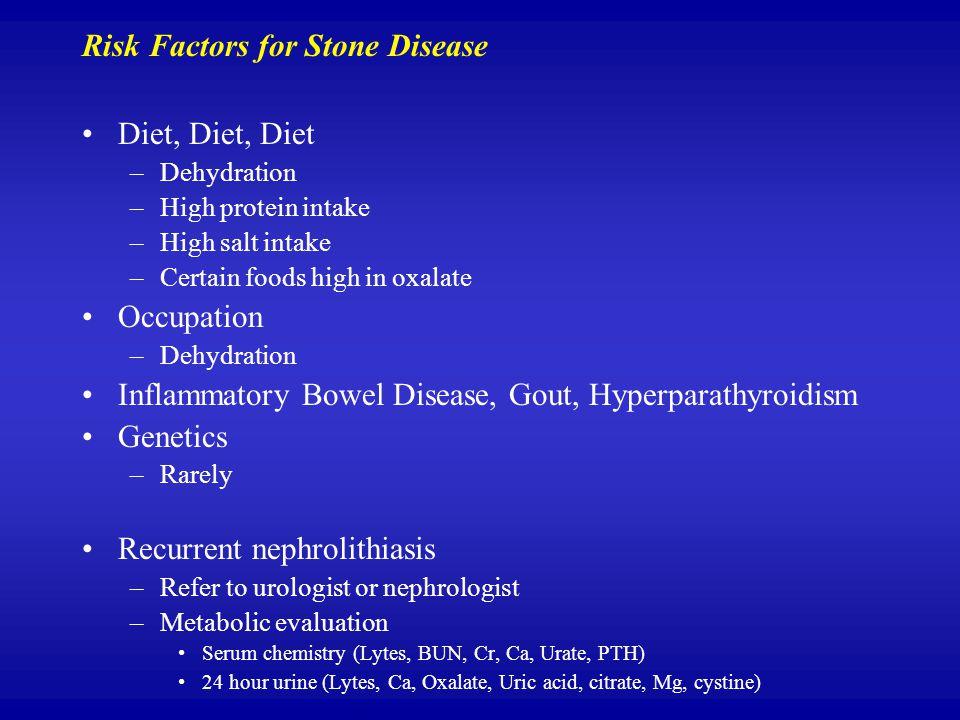 Risk Factors for Stone Disease