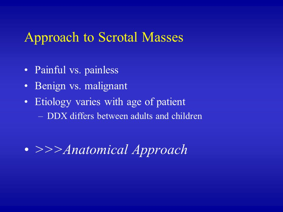 Approach to Scrotal Masses