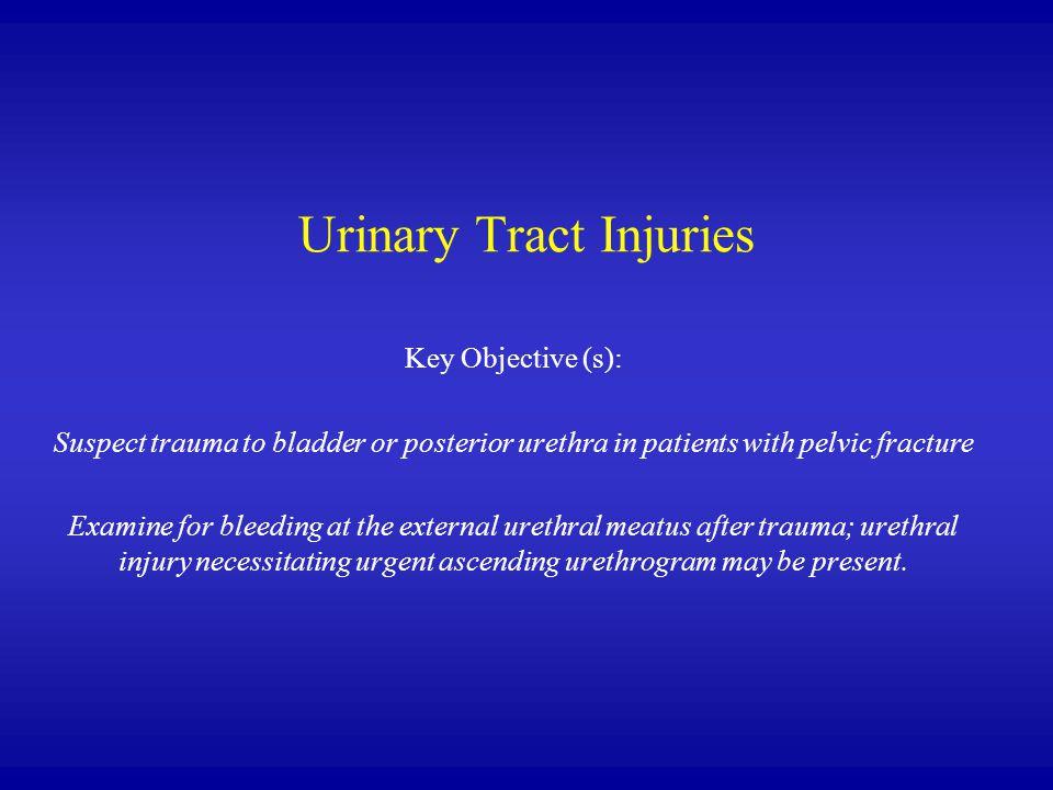 Urinary Tract Injuries