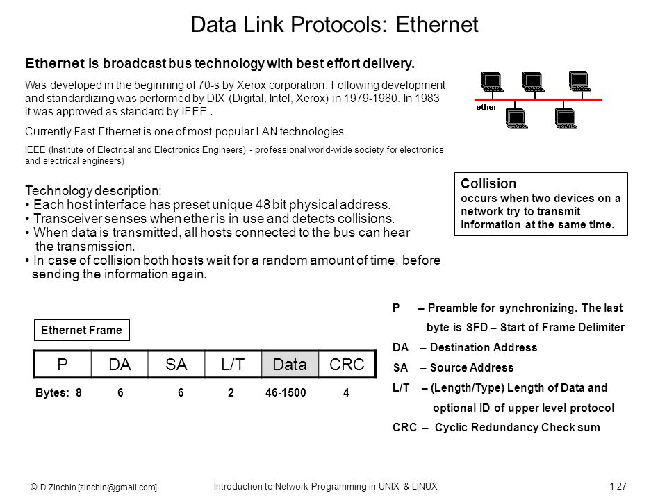 Data Link Protocols: Ethernet
