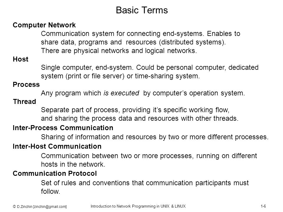 Basic Terms Computer Network