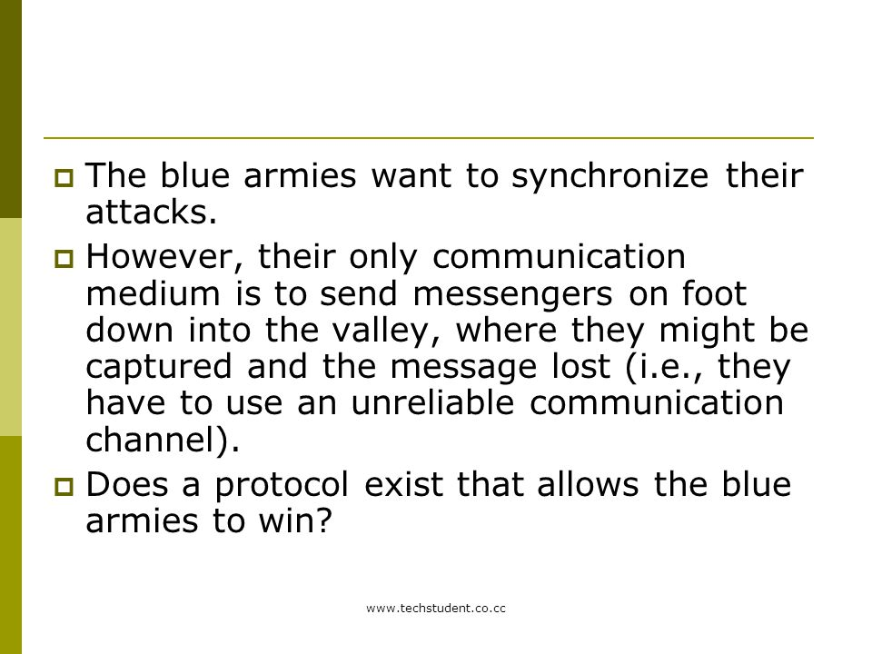 The blue armies want to synchronize their attacks.