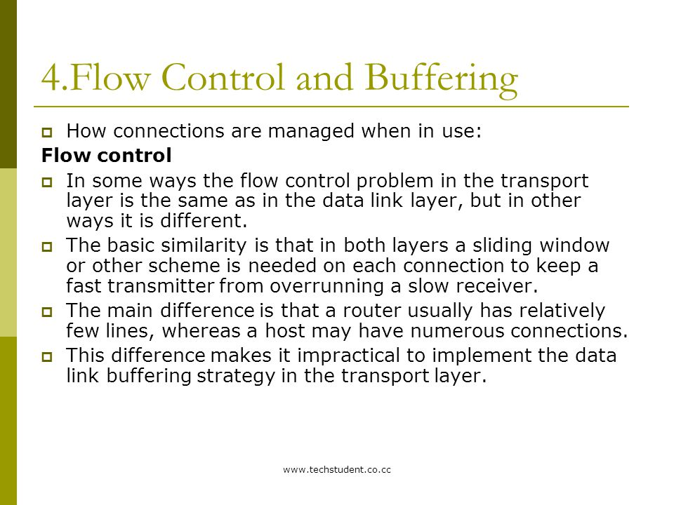 4.Flow Control and Buffering