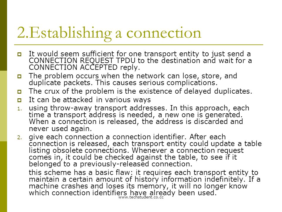 2.Establishing a connection