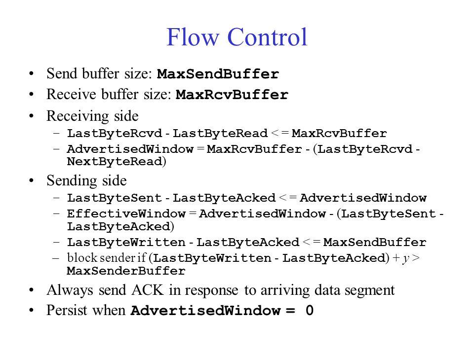 Flow Control Send buffer size: MaxSendBuffer