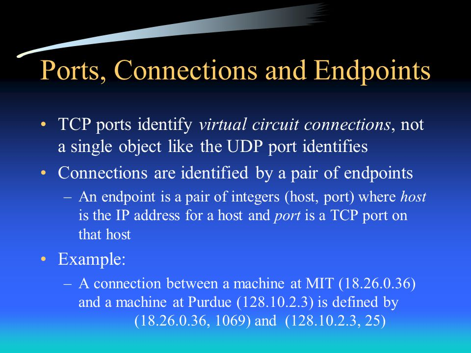 Ports, Connections and Endpoints