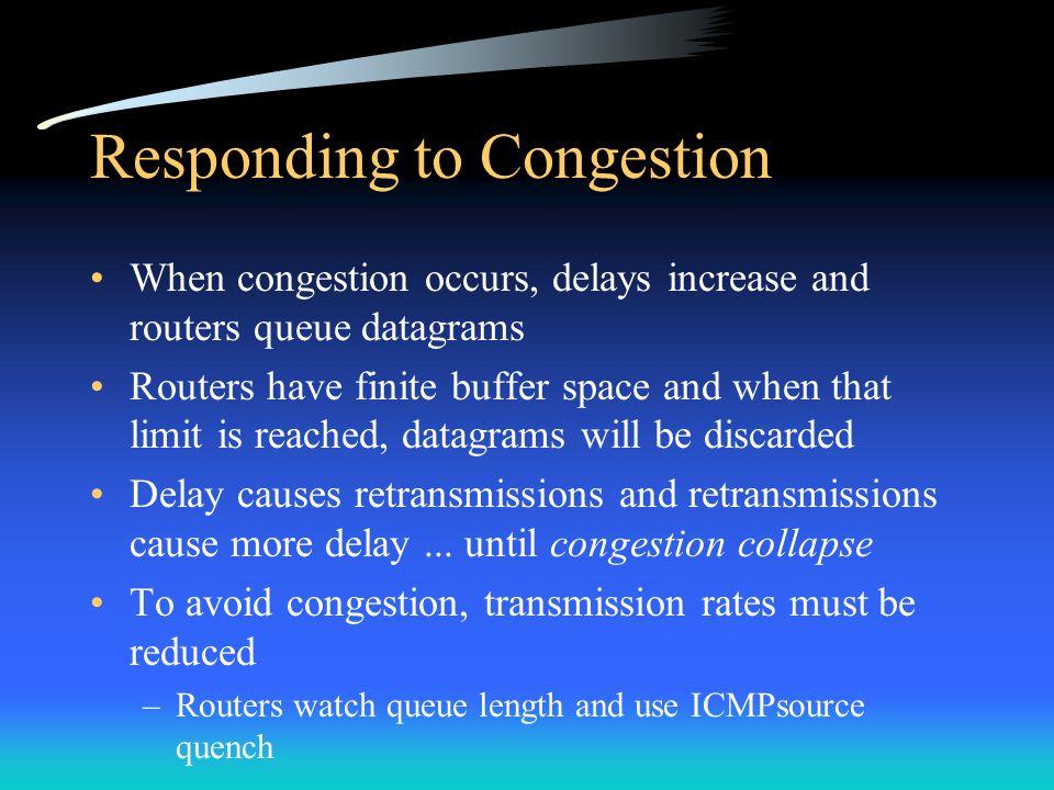Responding to Congestion