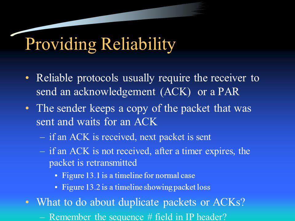 Providing Reliability