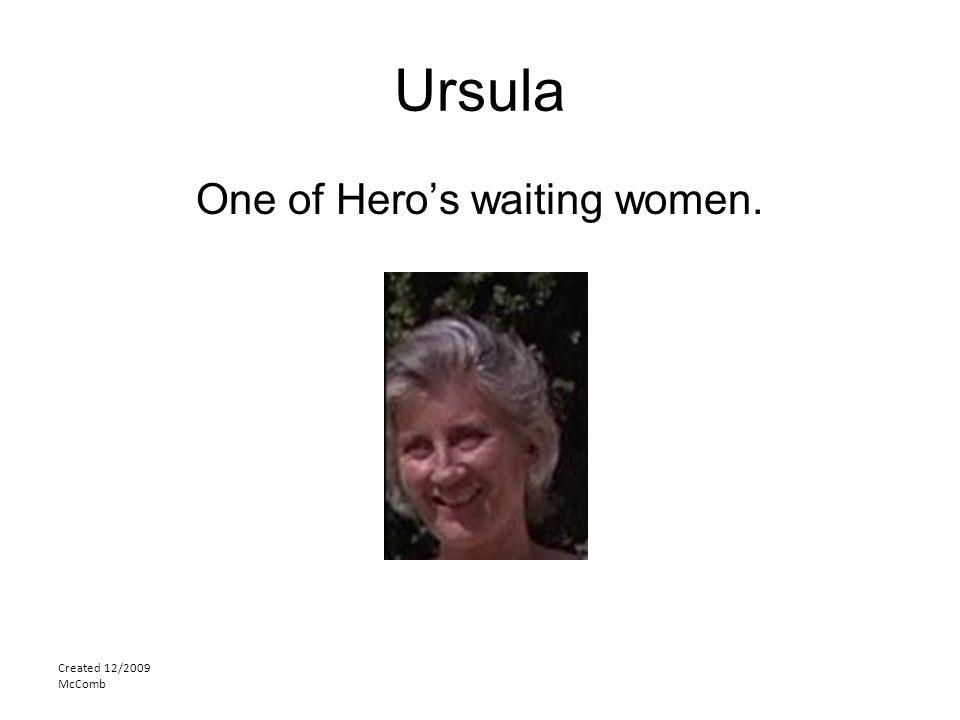 One of Hero's waiting women.