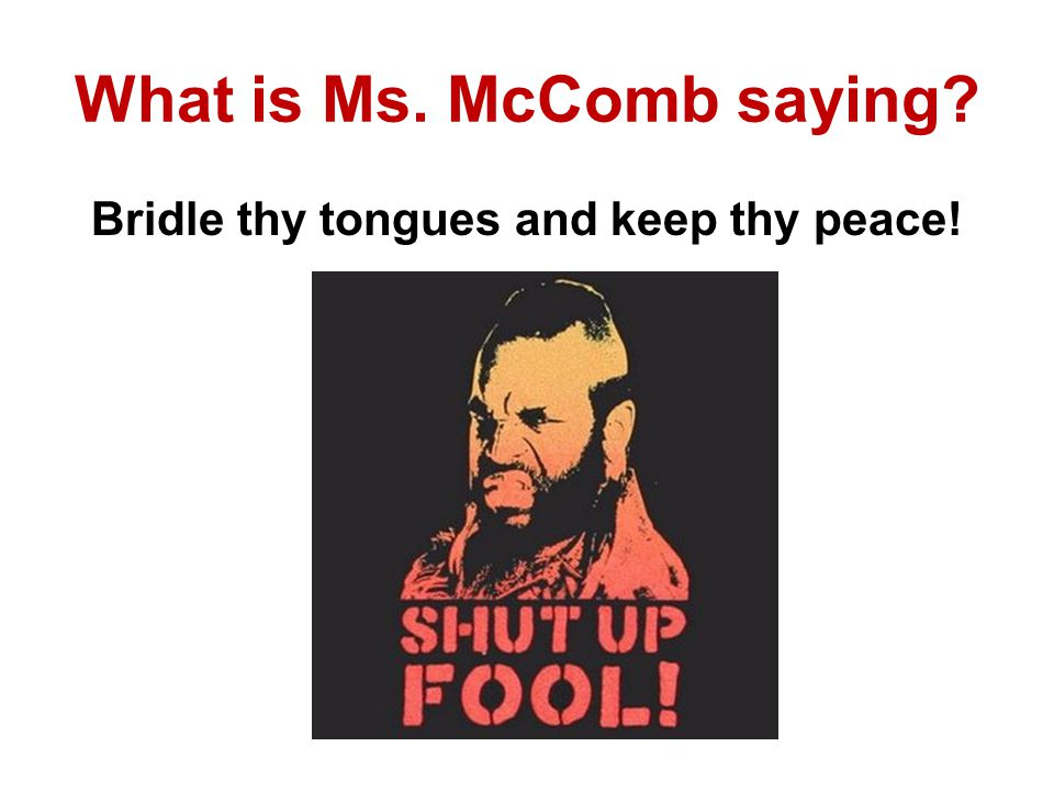 What is Ms. McComb saying