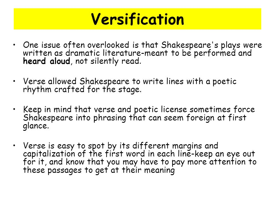 Versification