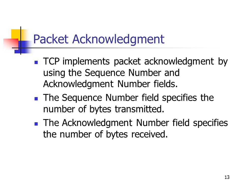 Packet Acknowledgment