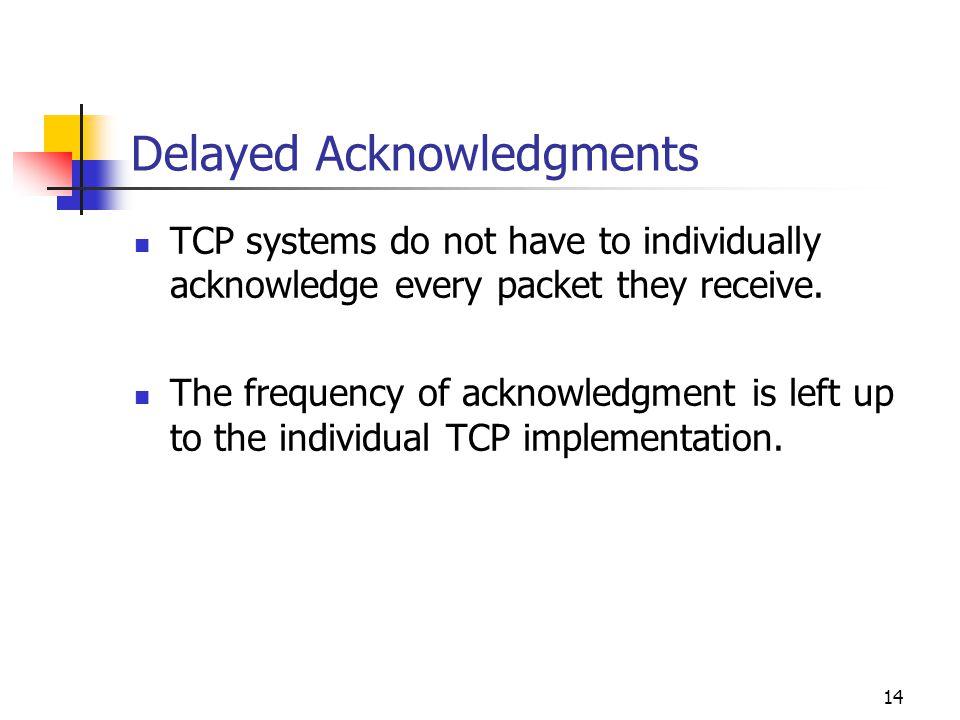 Delayed Acknowledgments