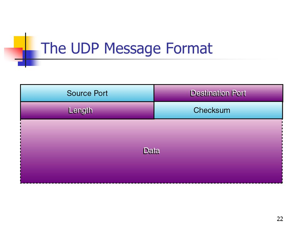 The UDP Message Format