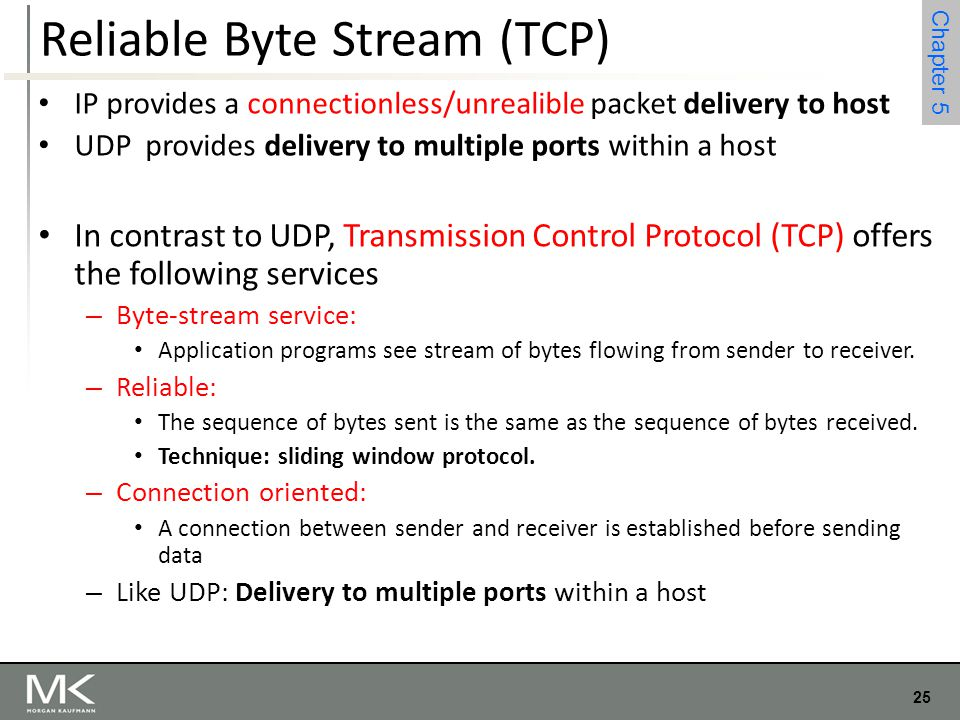 Reliable Byte Stream (TCP)