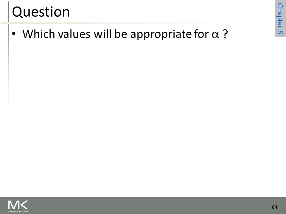 Question Which values will be appropriate for 