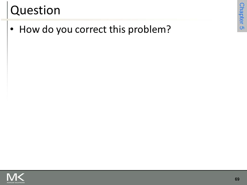 Question How do you correct this problem