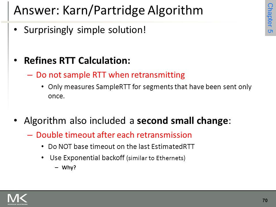 Answer: Karn/Partridge Algorithm