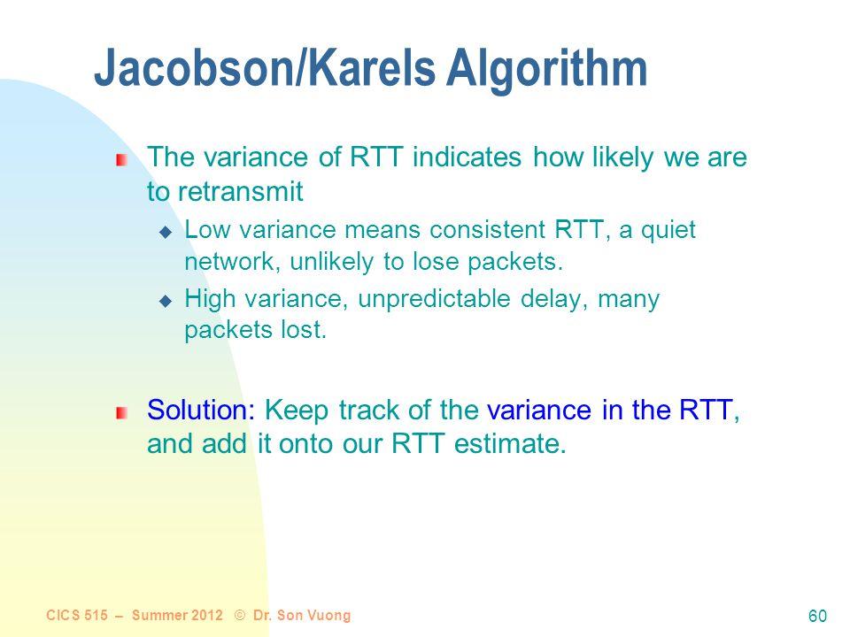 Jacobson/Karels Algorithm