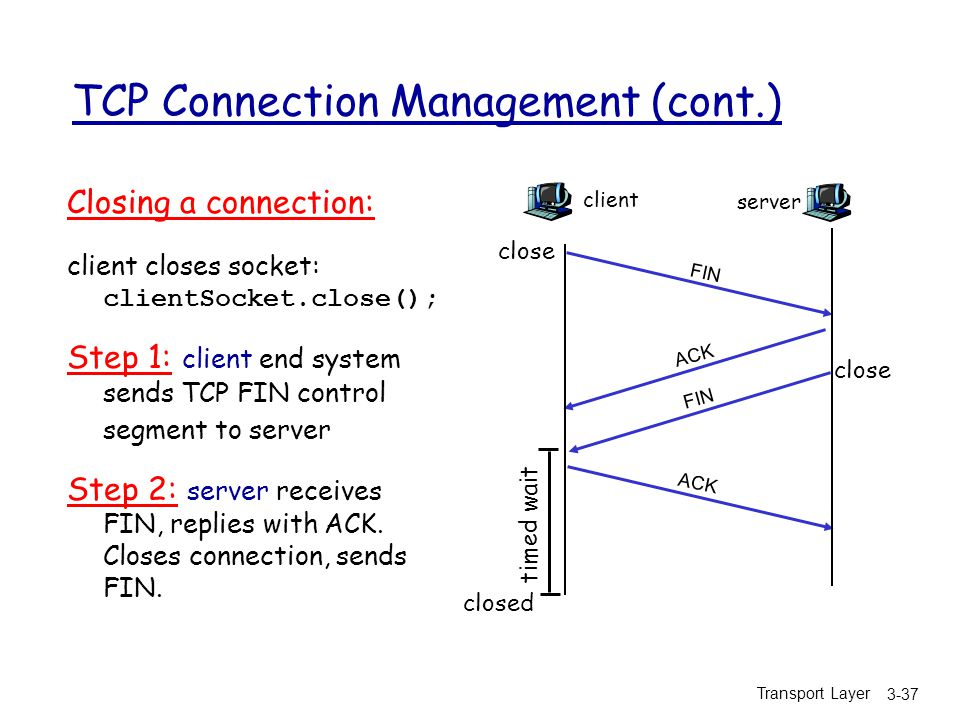 TCP Connection Management (cont.)