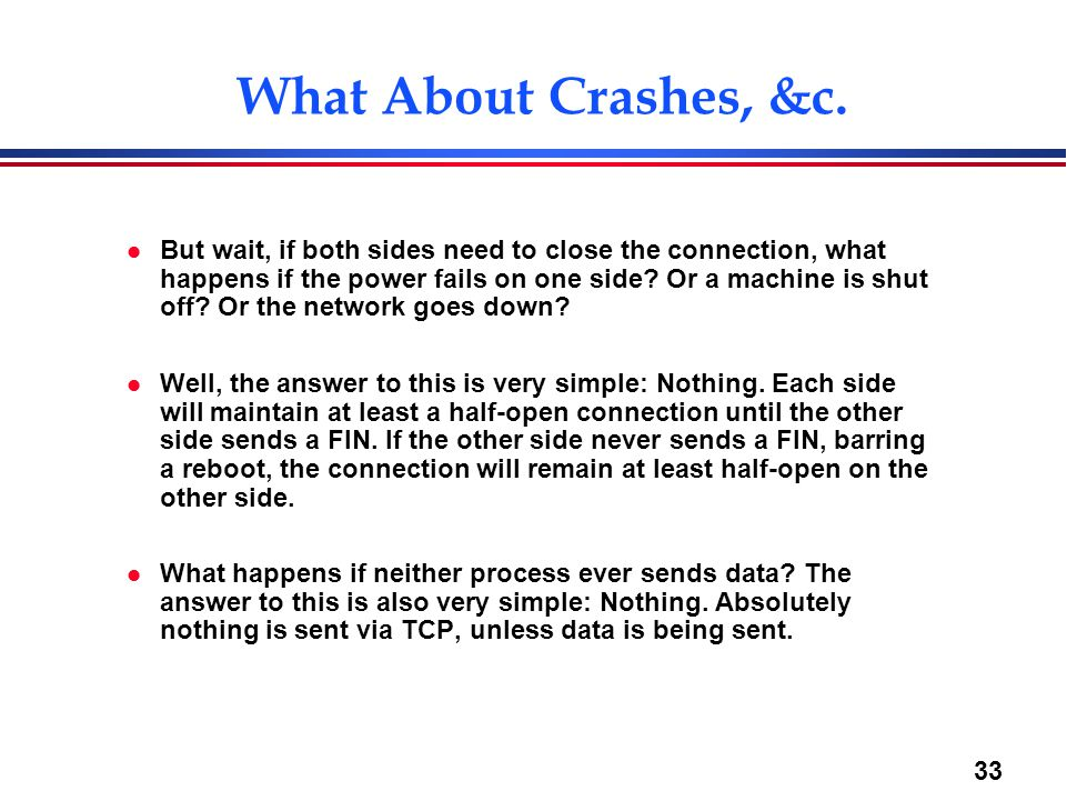 What About Crashes, &c.